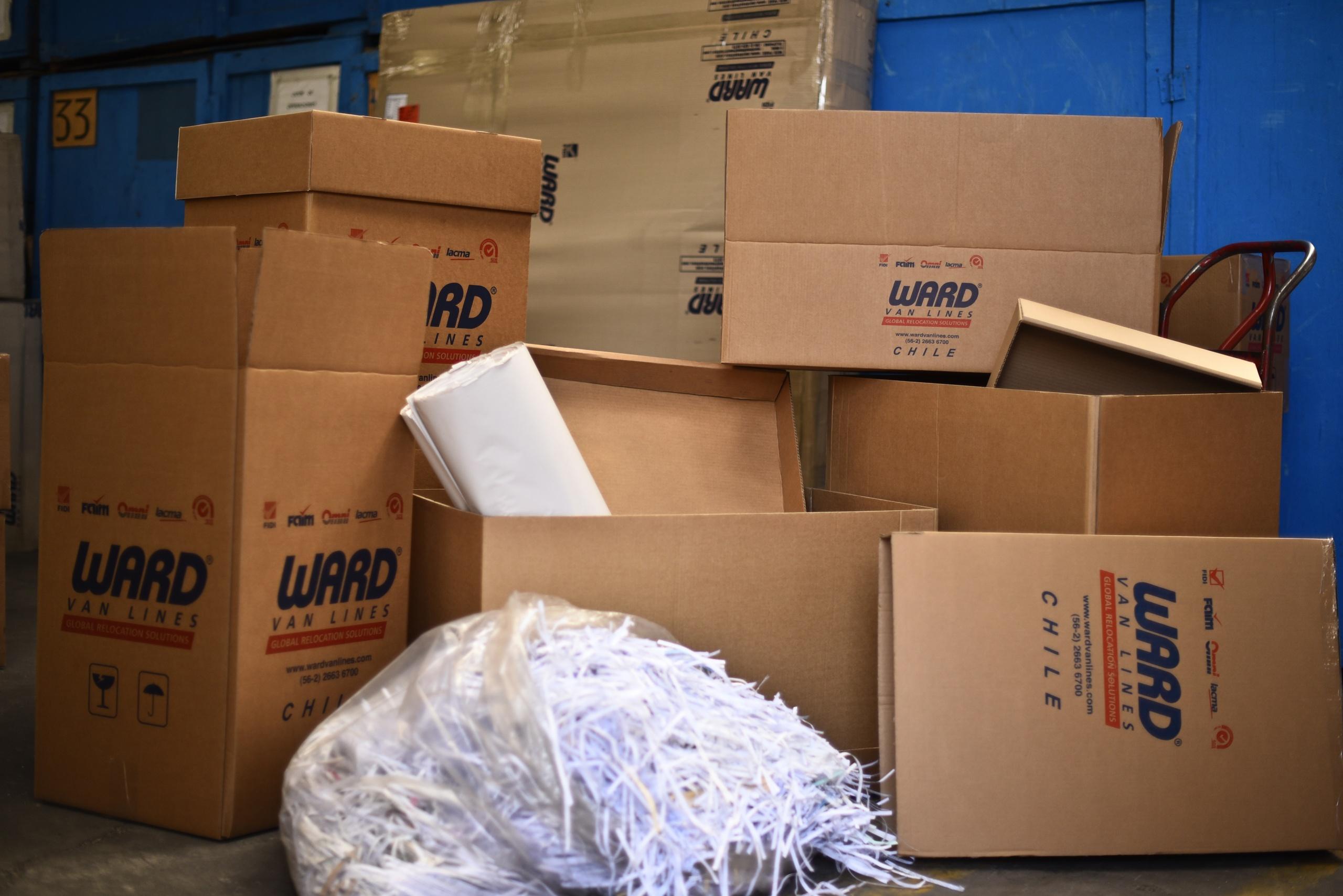 Cajas para guardar las cosas de una casa