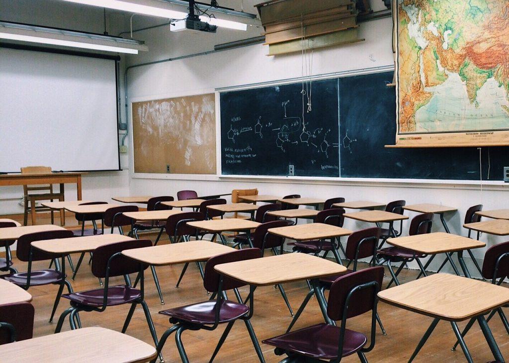 Sala de clases de un colegio internacional