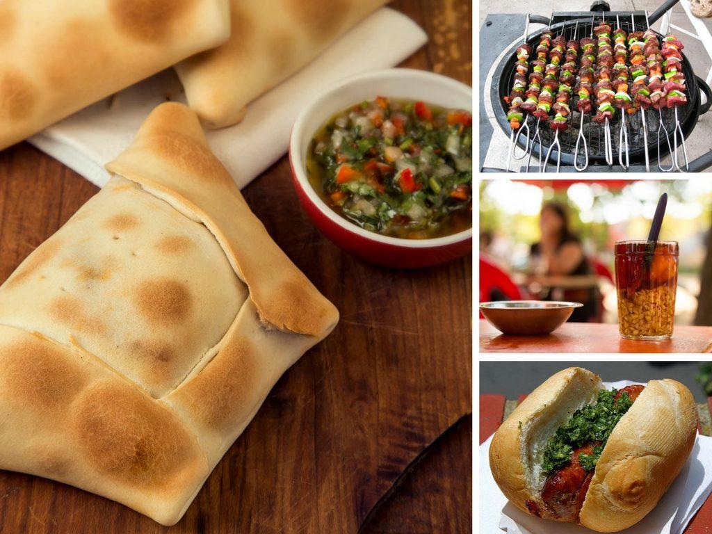 Imagen de las comidas típicas chilenas durante las Fiestas Patrias.