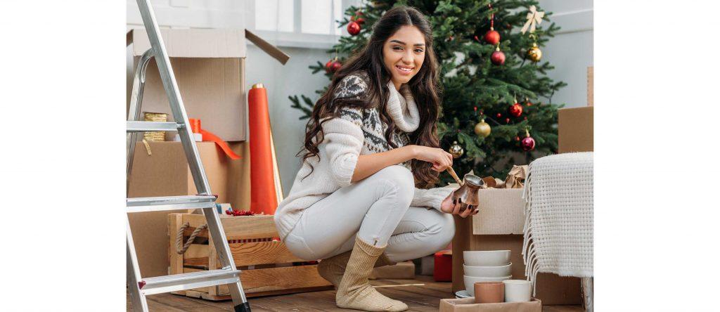 Mudanza internacional en Navidad