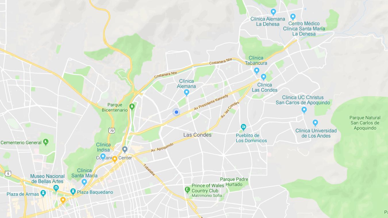 Clinicas de Santiago de Chile