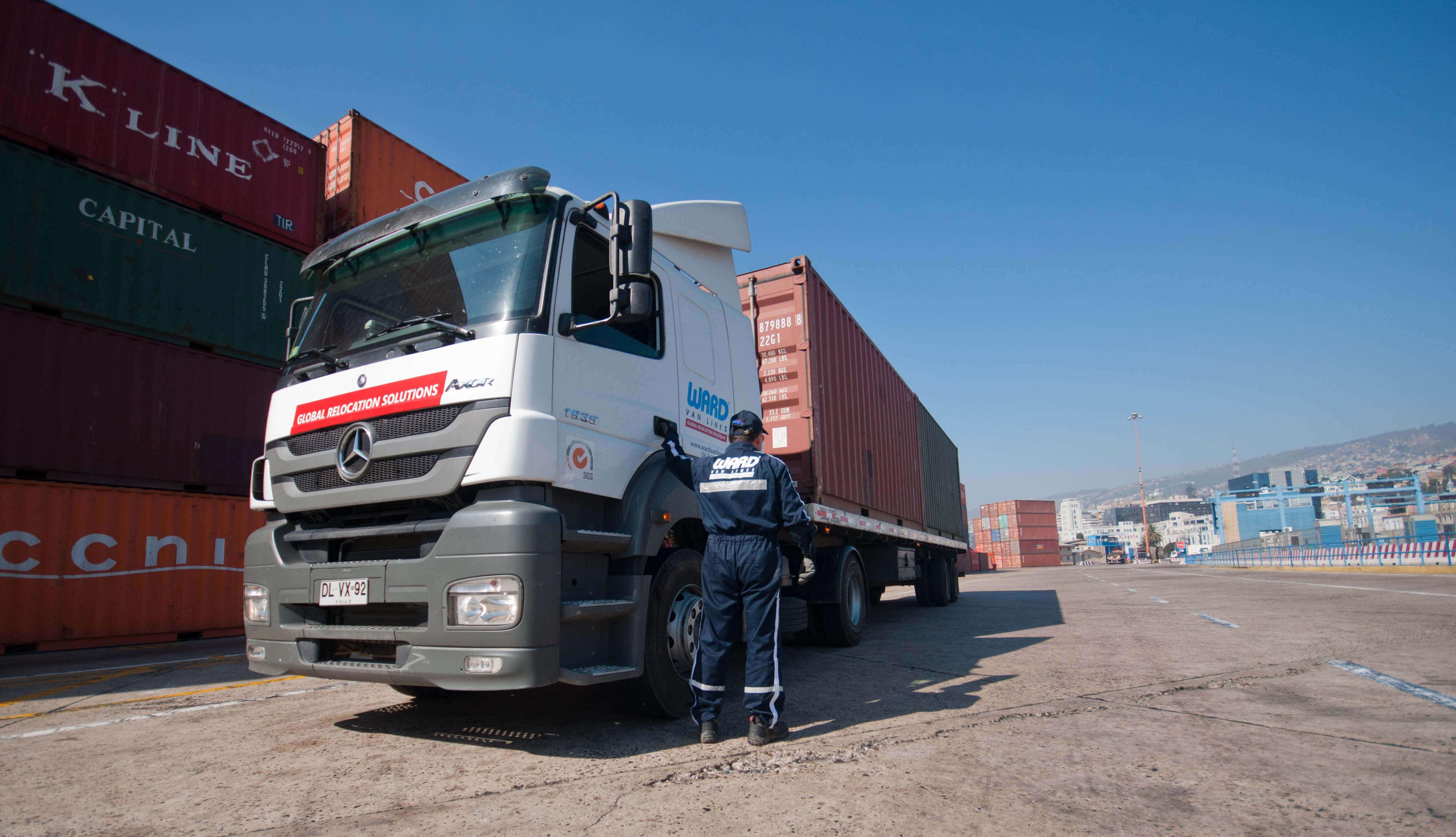 Container de mudanza internacional