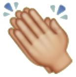 Aplausos emoji de whatsapp y redes sociales