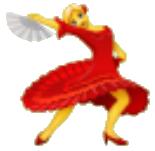 Mujer bailando flamenco usado en whatsapp