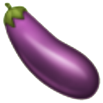 Berenjena emoji usado en whatsapp y redes sociales