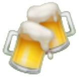 Jarras de cerveza de whatsapp y redes sociales