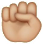 Emoji puno cerrado de whatsapp