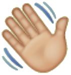 Emoji mano saludando utilizado en whatsapp