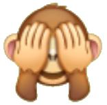 Emoticon con con ojos tapados de whatsapp se usa para coquetear en estados unidos