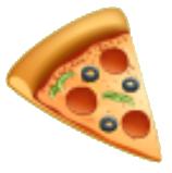 Pizza emoticon usado en whatsapp y redes sociales