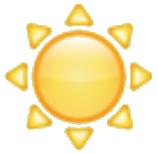 Emoji sol whatsapp