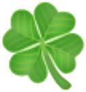 Emoticon trebol cuatro hojas whatsapp y redes sociales
