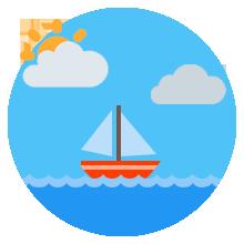 Vacaciones de invierno en el mar